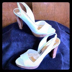 BCB Girls White Patent Heels